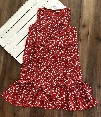 J Crew Crewcuts Girl's Floral Dress - Red White - Sz 14, 16 - NWT