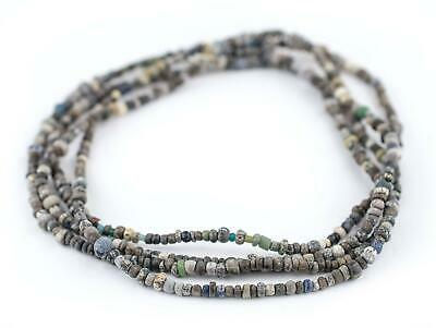 Grey Ancient Djenne Nila Glass Beads 5mm Mali African Seed 24-28 Inch Strand
