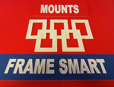 100 x ANTIQUE WHITE PICTURE/PHOTO MOUNTS 10x8 for 6x4