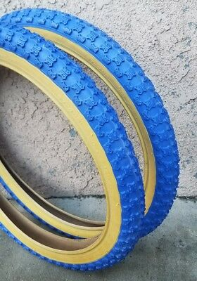 """Two 16x2.125/"""" BMX RED GUM WALL Comp 3 design tires /& TUBES"""