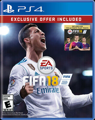 FIFA 18 Includes 500 Ultimate Team Bonus Points (Sony PlayStation 4) PS4 - NEW