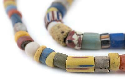 Old Ghana Medley Trade Beads Large 13mm African Multicolor Mixed Glass Handmade