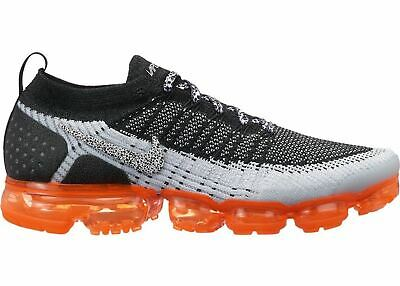 ade8de550daf05 Mens Nike Air VaporMax Flyknit 2 Safari White Black Total Orange 942842-106