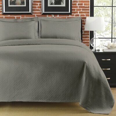 LaMont Home Diamante Twin Coverlet Grey FREE SHIPPING