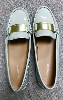 22a722c0b26 CALVIN KLEIN WOMENS Lisette Ivory Leather Loafers Shoes 8 Medium (B ...