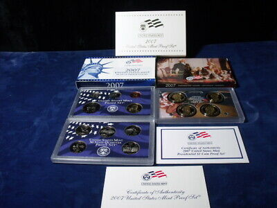 2007 s United States Mint Proof Set  ALL 14 COINS INC. $~ Box & Coa's Included ~
