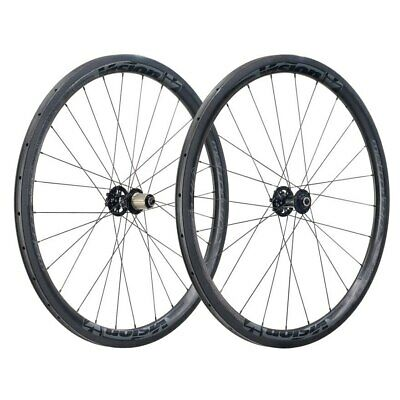 Vision Metron 40 Carbon Disc Tubular Wheelset 6 Bolt QR