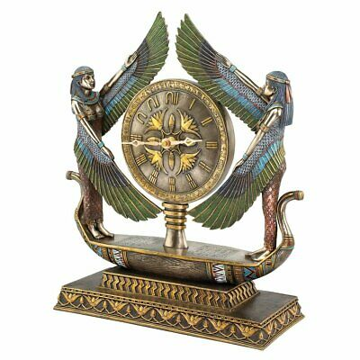 Design Toscano WU71647 Wings of Isis Egyptian Revival Sculptural Clock KITCHEN