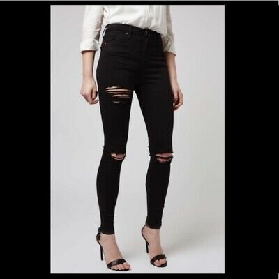 competitive price super cheap buy WOMENS TOPSHOP MOTO super ripped Jamie skinny jeans in black ...