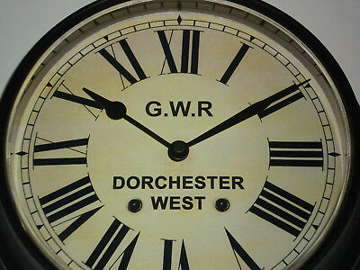 Great Western Railway, GWR Victorian Style Waiting Room Clock, Dorchester West.