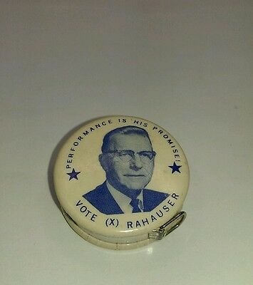 Vtg Political Campaign Tape Measure JOSEPH S. RAHAUSER Franklin Co Pennsylvania