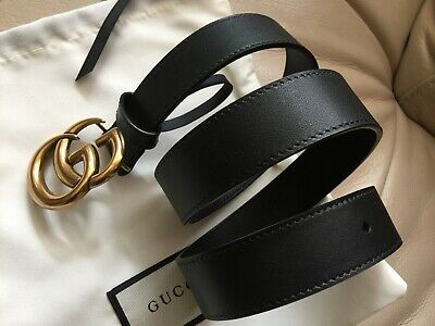 54320ef64641 AUTHENTIC NEW GUCCI Double GG Reversible leather Belt Size 90cm 30 ...