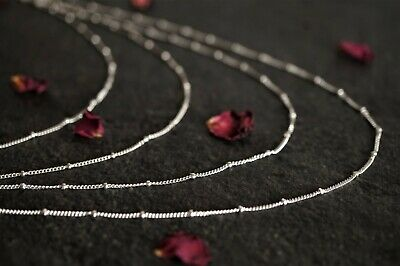 925 Sterling Silver 0.6mm Rose Gold Plated Snake Chain Necklace A2439