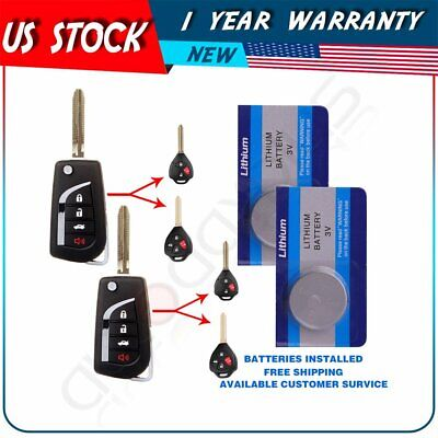 2PCS UNCUT CAR Keyless Entry Remote Replacement Key Fob For