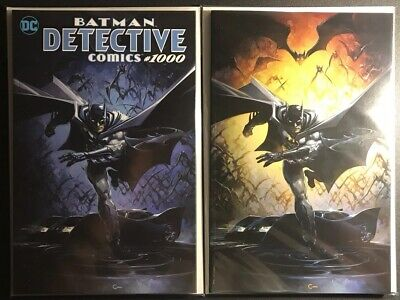 Detective Comics 1000 Clayton Crain Virgin Variant Set Batman Nm/Mint
