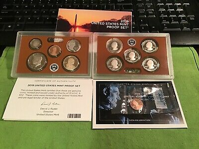 2019 S US Mint Proof Set - 11 Coins Including 2019W Lincoln Cent