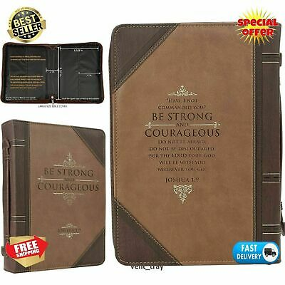 Bible Cover Leather Antique Large Cover for Holy Bible Case Protector Prayer New
