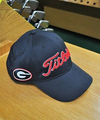 93d25463b70 New 2018 Titleist Golf Ncaa Tour Performance Hat Adjustable Georgia  Th7Apcol-Ga