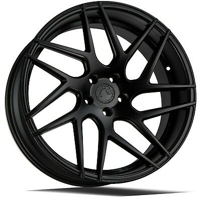 18x8 18x9 Black Staggered Wheels Fits Lexus Is200t Mustang G35 G37