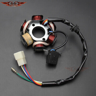 stator magneto 8-poles coils 4 wires gy6 50cc 80cc 130qmb scooter atv quad  moped parts
