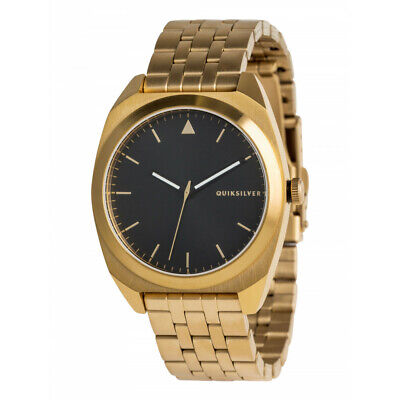 272078e30ad9 QUIKSILVER THE PM WATCH GOLD BLACK Stainless Steel Mens EQYWA03030  RRP 199.99