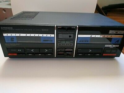 Pioneer Stereo Double Cassette Tape Deck Ct-X700W