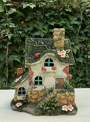 FAIRY GARDEN MINI - Solar Tree House With Ladder - $49 99