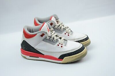 various colors 34c41 c9d70 NIKE Air Jordan 3 III 2013 Retro White Fire Red 398614-120 Size 6.5Y