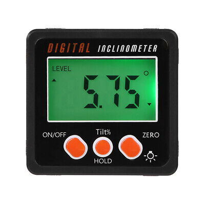 Digital Protractor Gauge Level Angle Finder Inclinometer Magnet Base Spirited