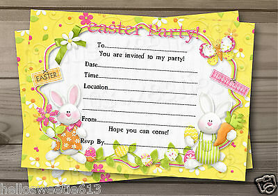1-10 Eggstra Special Easter Party, Egg Hunt Invitations Or Thank You Cards