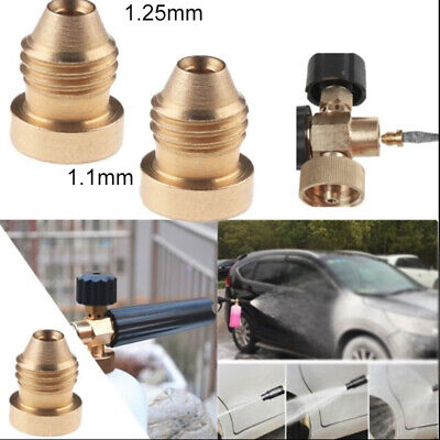 Foam Cannon Orifice Nozzle Tips Thread Nozzle For Snow Foam Lance Spray Copper