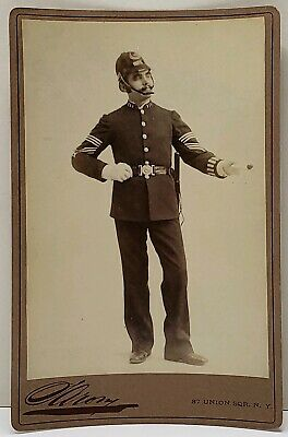 Policing Policeman Constable Police Officer by Sarony NY Antique Cabinet Photo