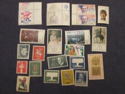 Stamps of West Germany Mint Hinged x 55 includes 2 Berlin stamps