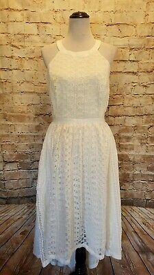 f3ad5afd336 Modcloth Harmonious Ceremony Maxi Dress Ivory NWOT 2X high low halter lace