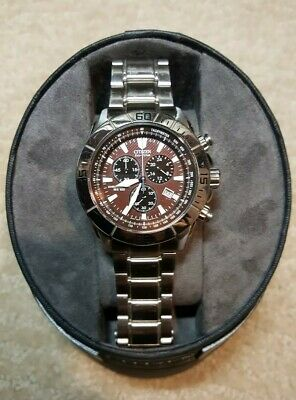 Citizen Eco-Drive AT0810-55X SD -Chronograph- Brown Dial- Men's Sport Watch