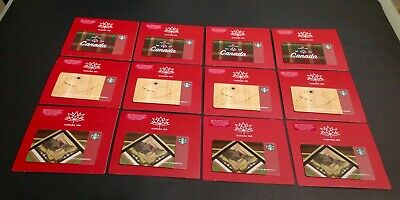 Canada's 150Th Starbucks Gift Card ----- Lot Of 12 Pcs. ( 4 Set ) -- New