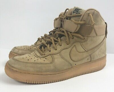 premium selection 8a6f7 ed27e NIKE AIR FORCE 1 High Flax Wheat Style 882096-200 Size 8.5