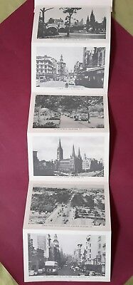 1940 - 50s MELBOURNE VICTORIA Postcard Picturesque Views Rose Series 12 Pictures