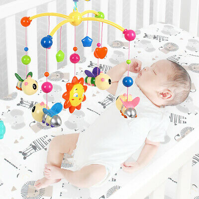 Baby Musical Bed Cot Mobile Star Flash Light Projection Nursery Lullaby Toy gift