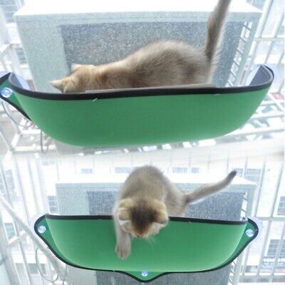 13kg Cat Kitten Green Bed Perch Hanging Hammock Suction Cup Window Hanging Bed