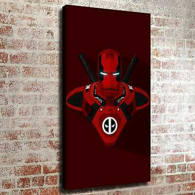 Iron Man and the two sticks behind HD Canvas prints Home decor Room Wall art