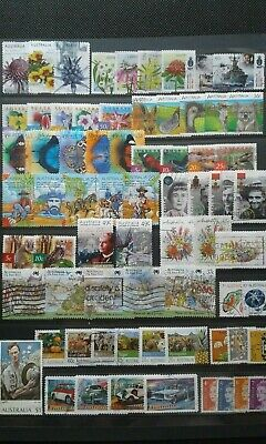 200 Aust Decimal Stamps Used All Different Bulk Kiloware Collection Off Paper