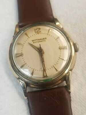 8659c6846c4b MENS VINTAGE WITTNAUER Automatic Gold Filled Wrist Watch - working ...
