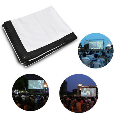 """200""""in 16:9 Portable Outdoor Fabric Projection Screen for HD Movie ProjectorsUK"""