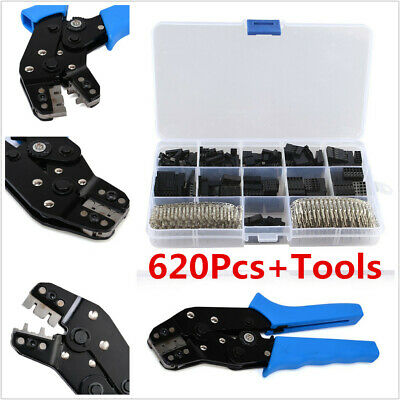 620Pcs Cable Wire Terminal Connector Crimp Pins + Terminal Crimping Piler Tool