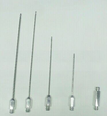 Luer Lock Liposuction Cannulas Set with transfer adopter for luer lock syringes