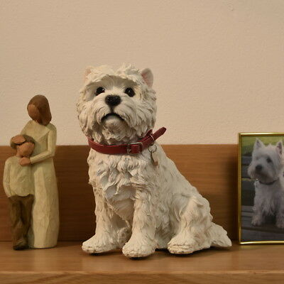 Westie  Dog  Urn pet  casket to hold the ashes of your west highland terrier