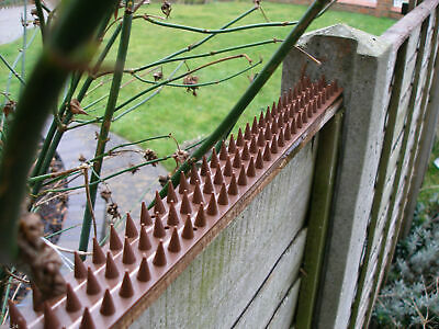 10 x FENCE WALL SPIKES ANTI CLIMB SECURITY PLASTIC CAT BIRD REPELLENT DETERRENT
