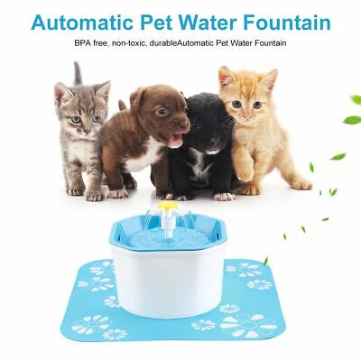 Automatic Electric 1.6L Pet Water Fountain Dog/Cat Drinking Filter Bowl