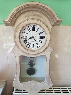 Light Wooden Pendulum Wall Clock Parliament Clock Company Harrogate Home Works